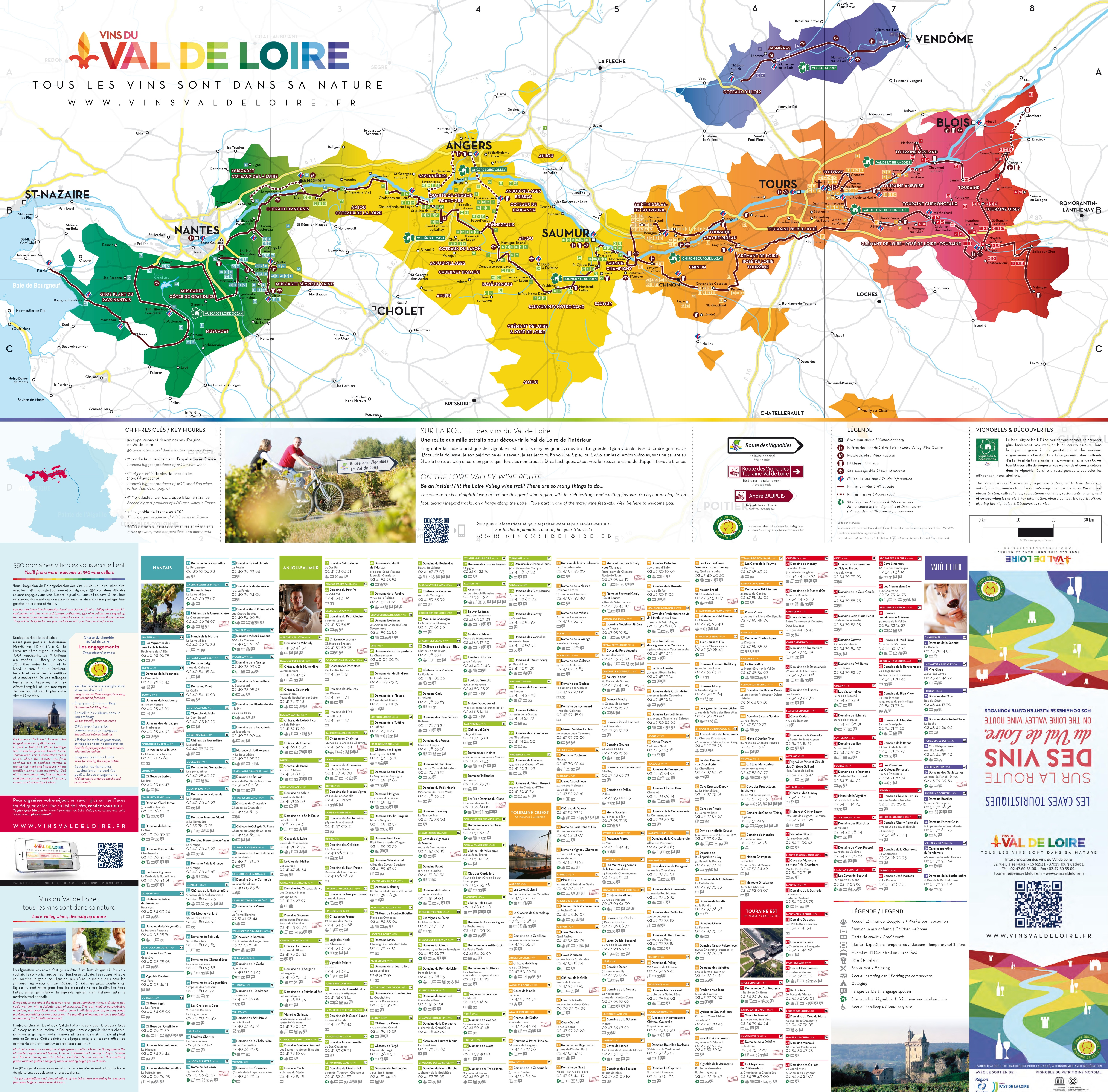 Val de Loire wine map