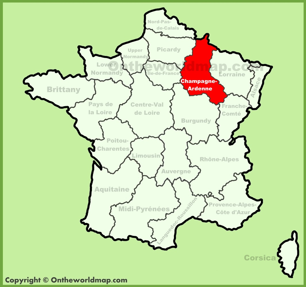 Champagne-Ardenne location on the France map on