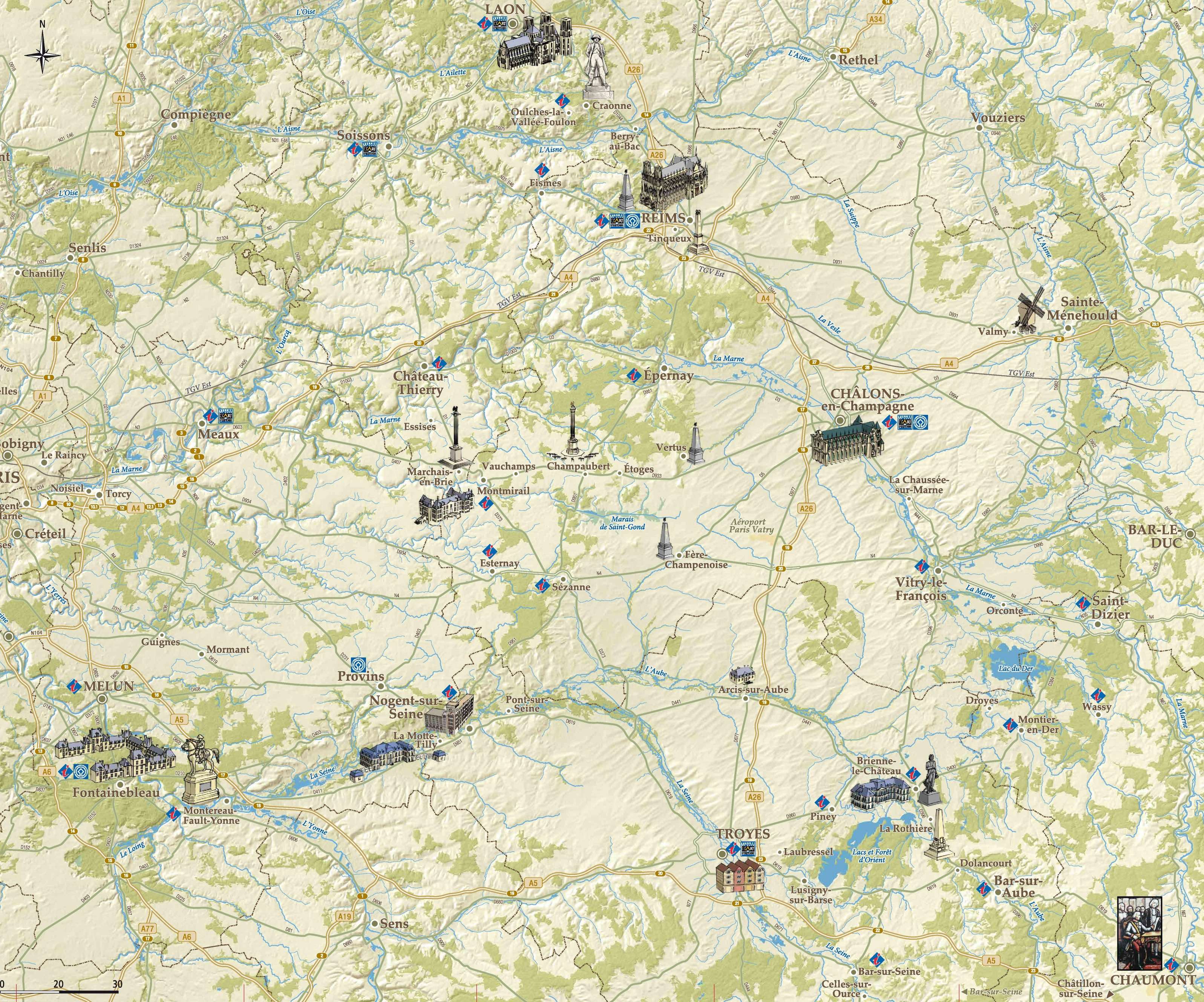 ChampagneArdenne tourist map