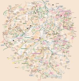 Central Corsica map