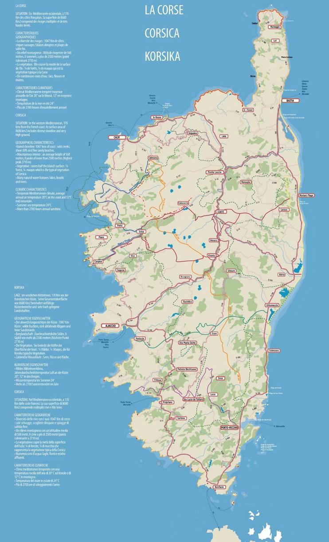 Corsica road map