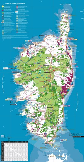 Corsica tourist map