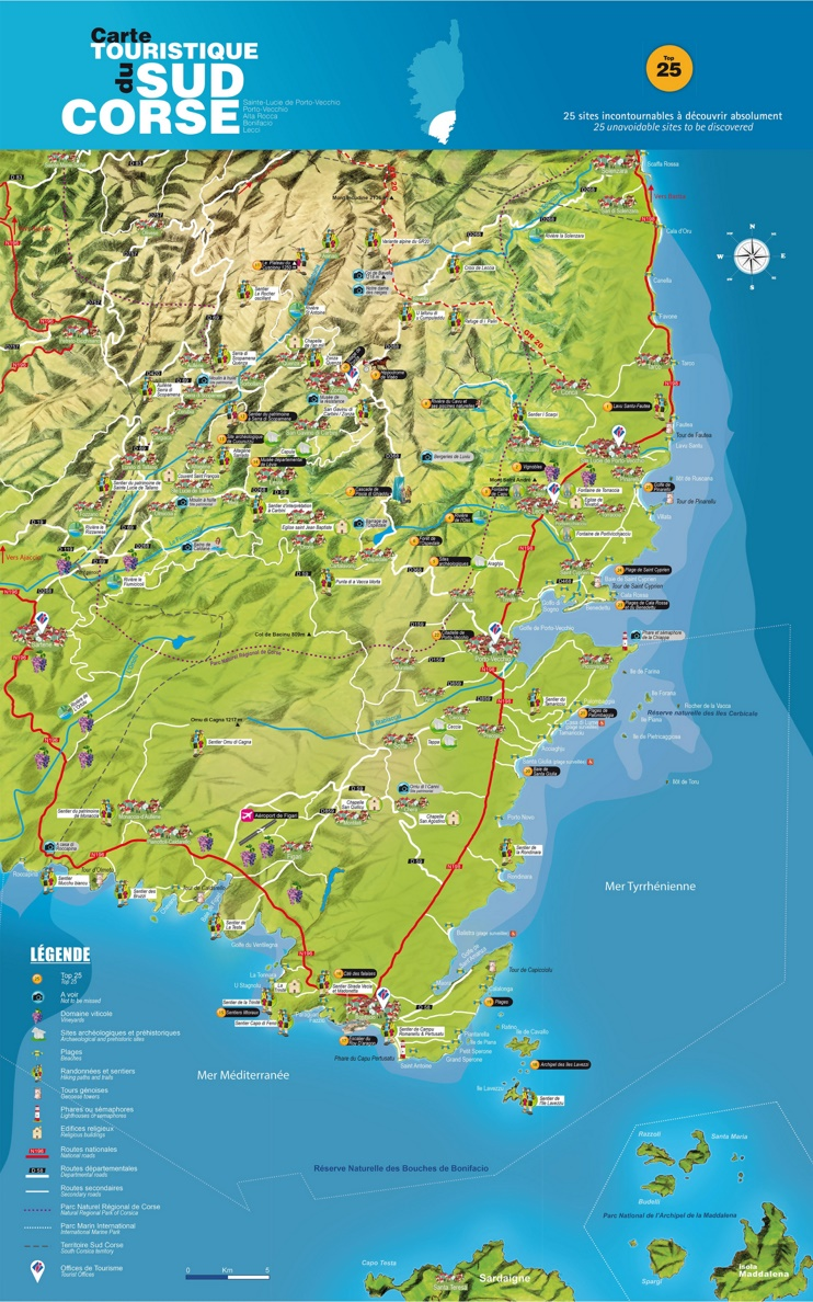 South Corsica map