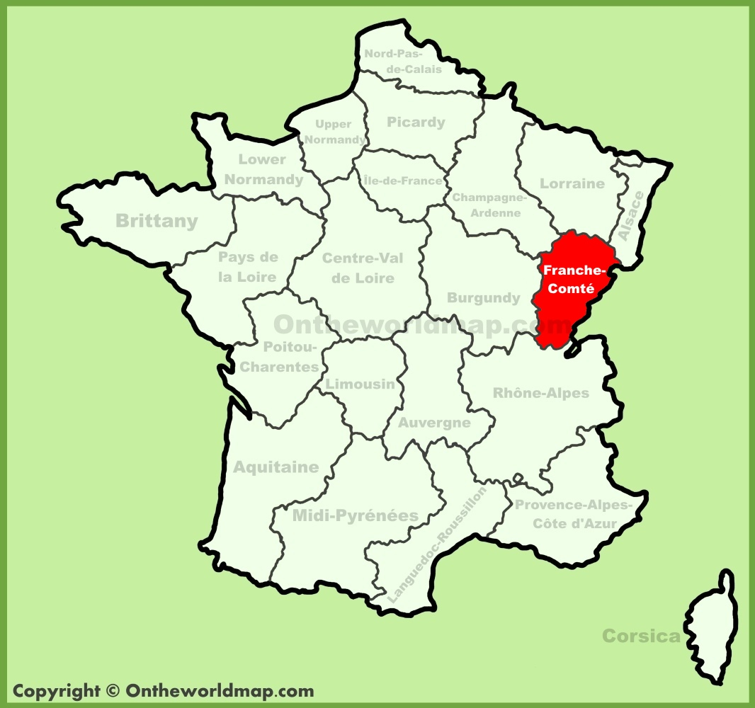 FrancheComt location on the France map