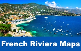 French Riviera maps