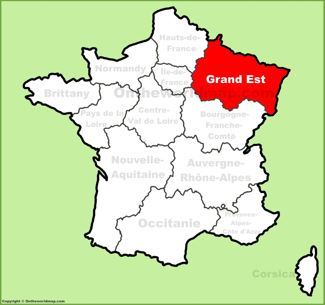 Grand Est location on the France map