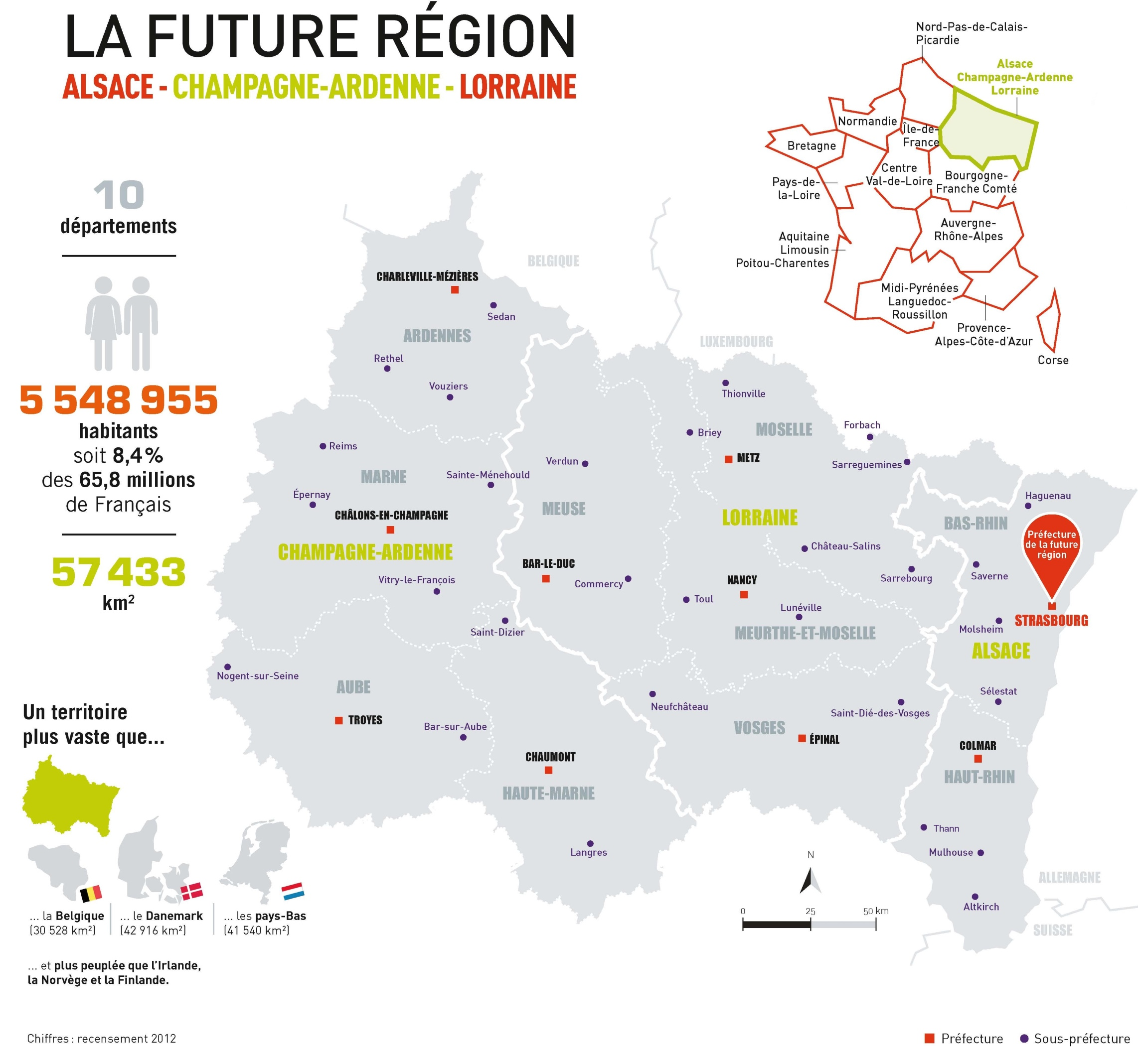 Map Of France Regions With Cities.Map Of Grand Est With Cities And Old Regions