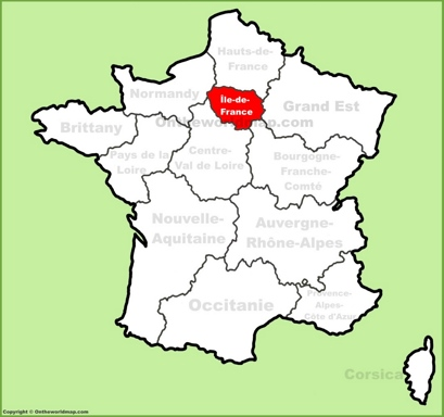 Île-de-France Location Map
