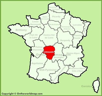 Limousin Maps France Maps of Limousin