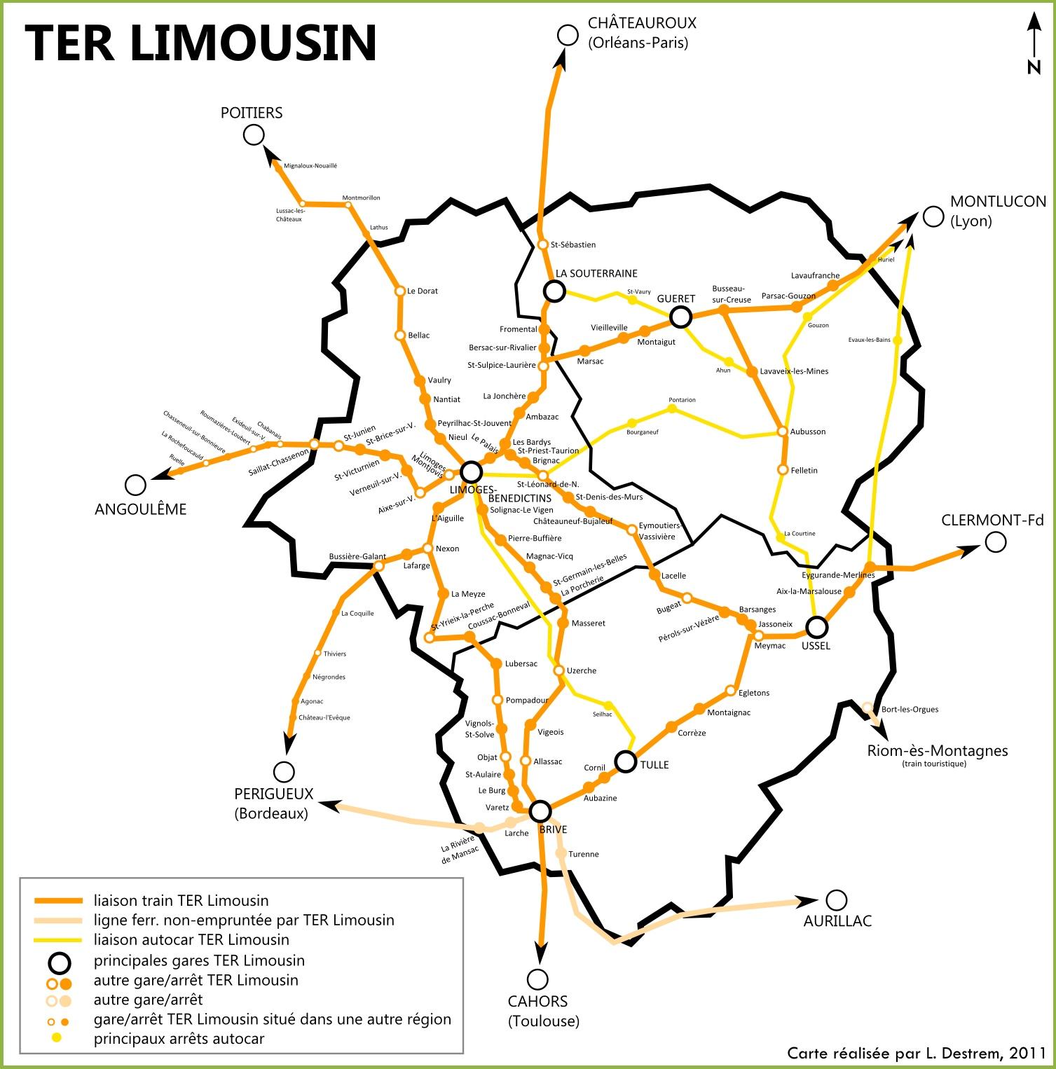 Limousin rail map