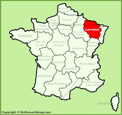 Lorraine Maps | France | Maps of Lorraine