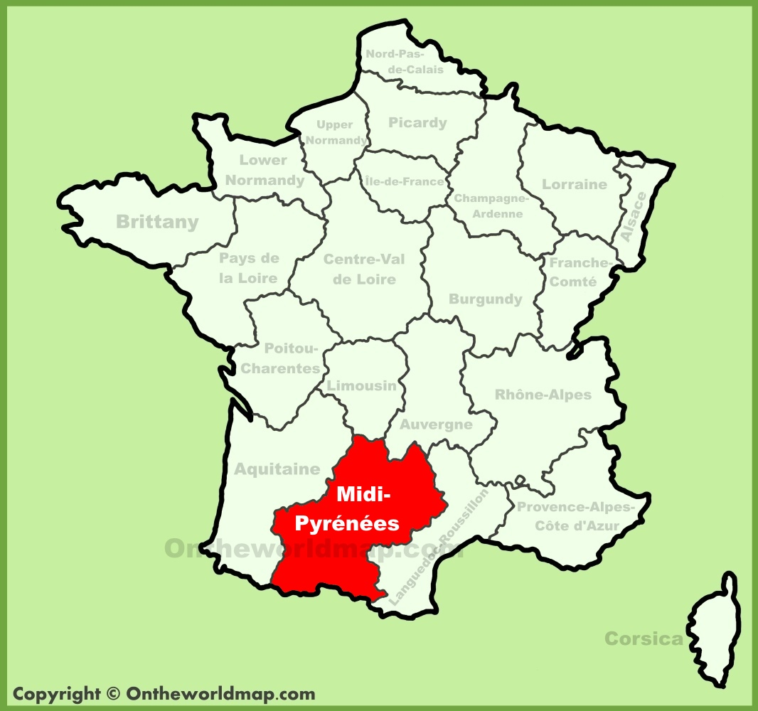 MidiPyrnes location on the France map