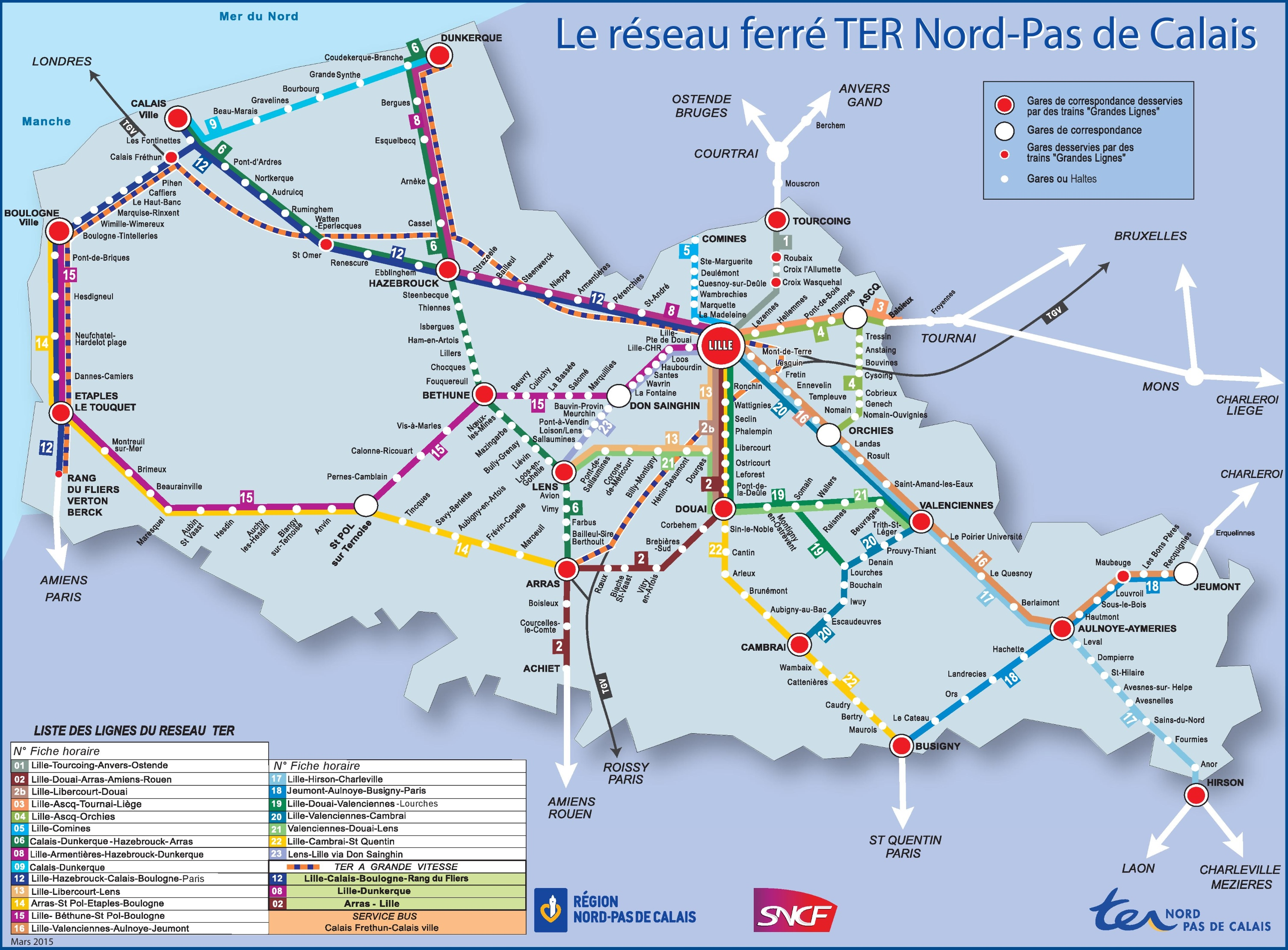 Nord pas de calais rail map sciox Image collections