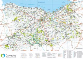 Large detailed map of Calvados
