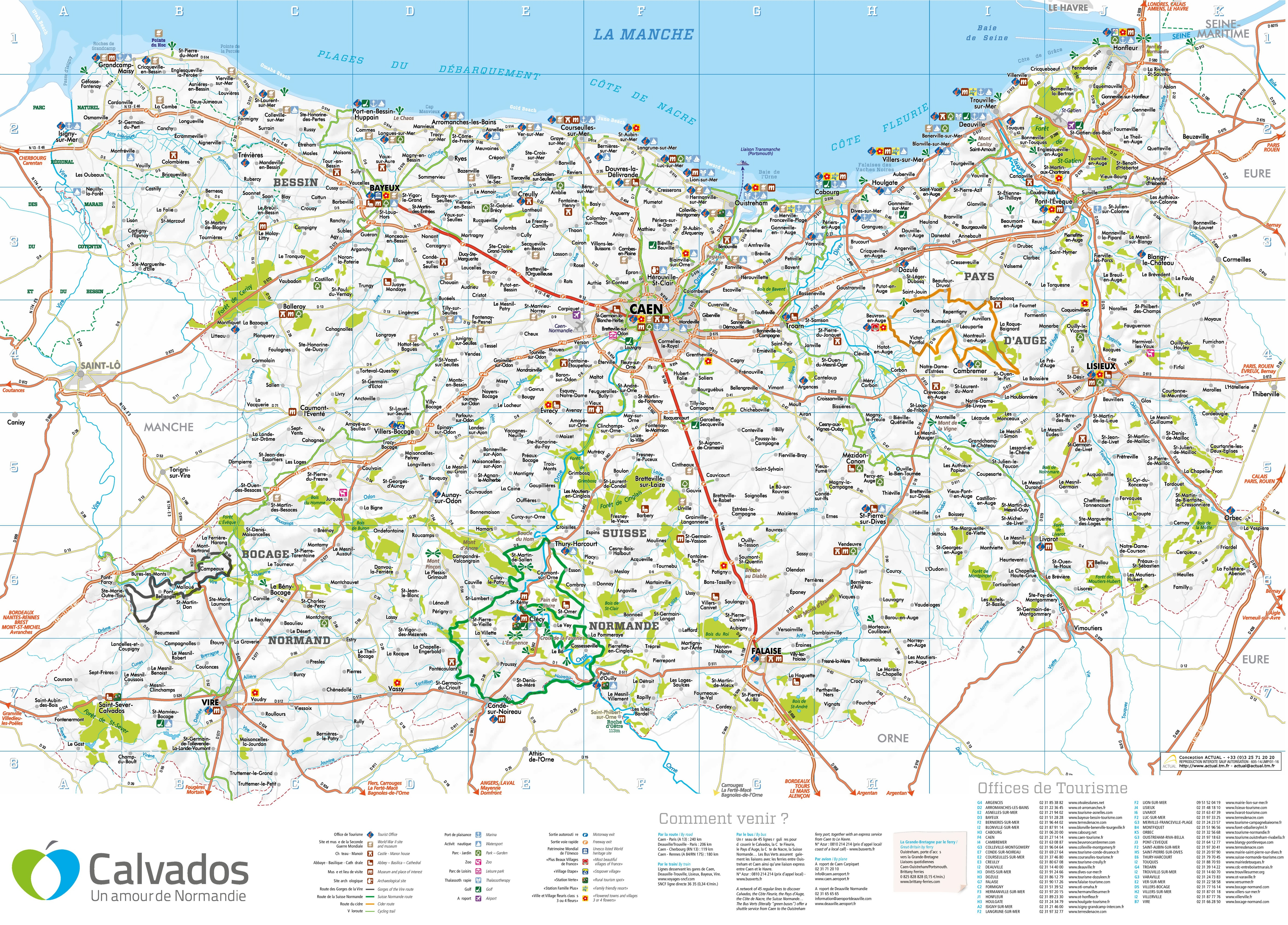Map Of Normandy France Detailed.Large Detailed Map Of Calvados