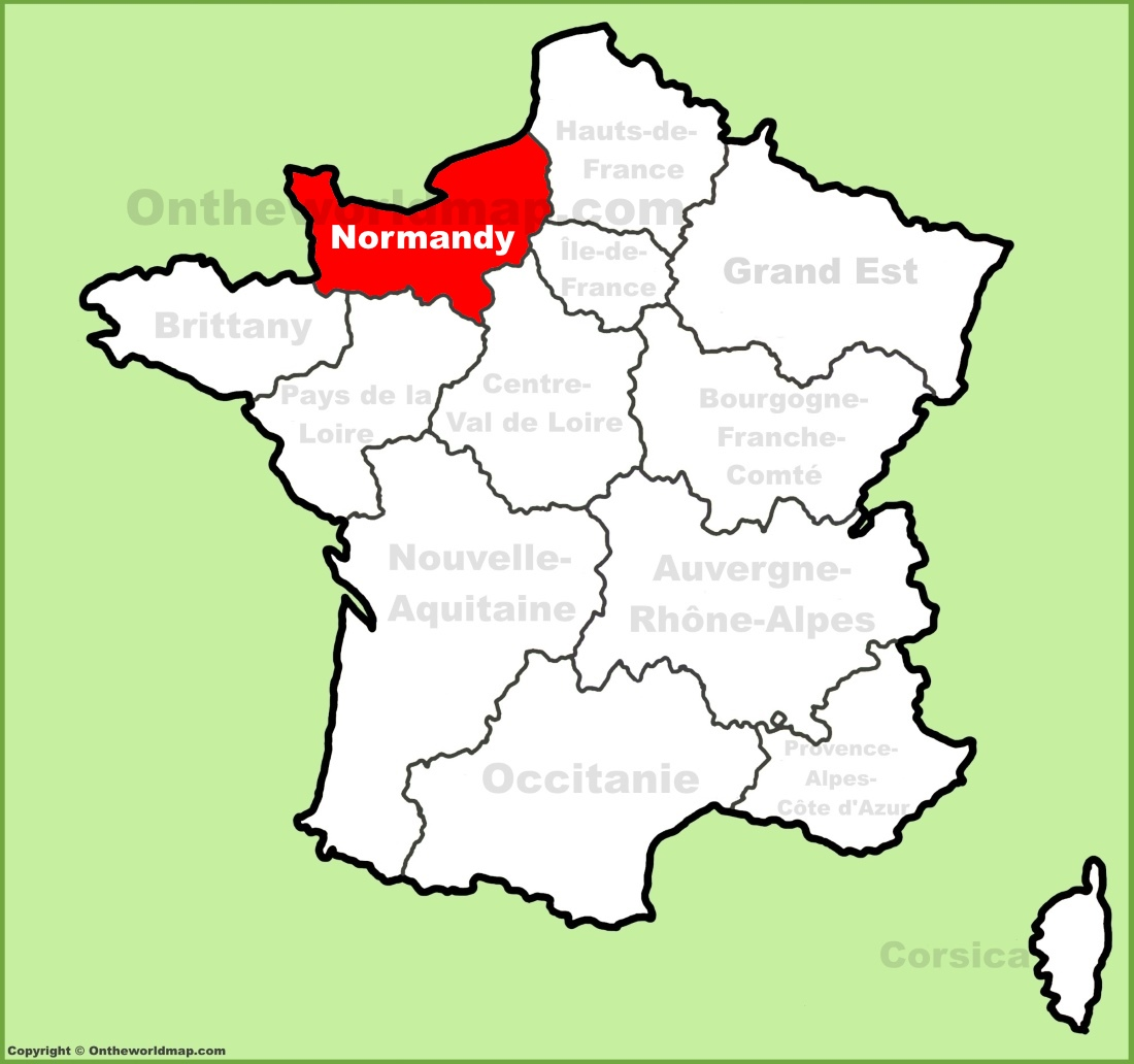 Map Of Normandy Normandy location on the France map Map Of Normandy