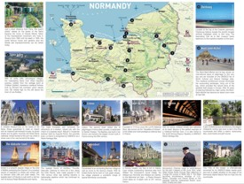 Normandy tourist attractions map