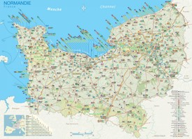 Normandy tourist map