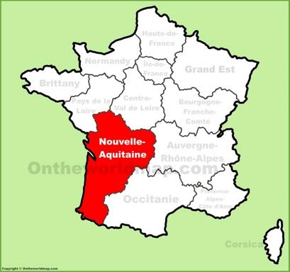 Nouvelle-Aquitaine Location Map