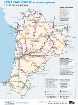 Nouvelle-Aquitaine rail map