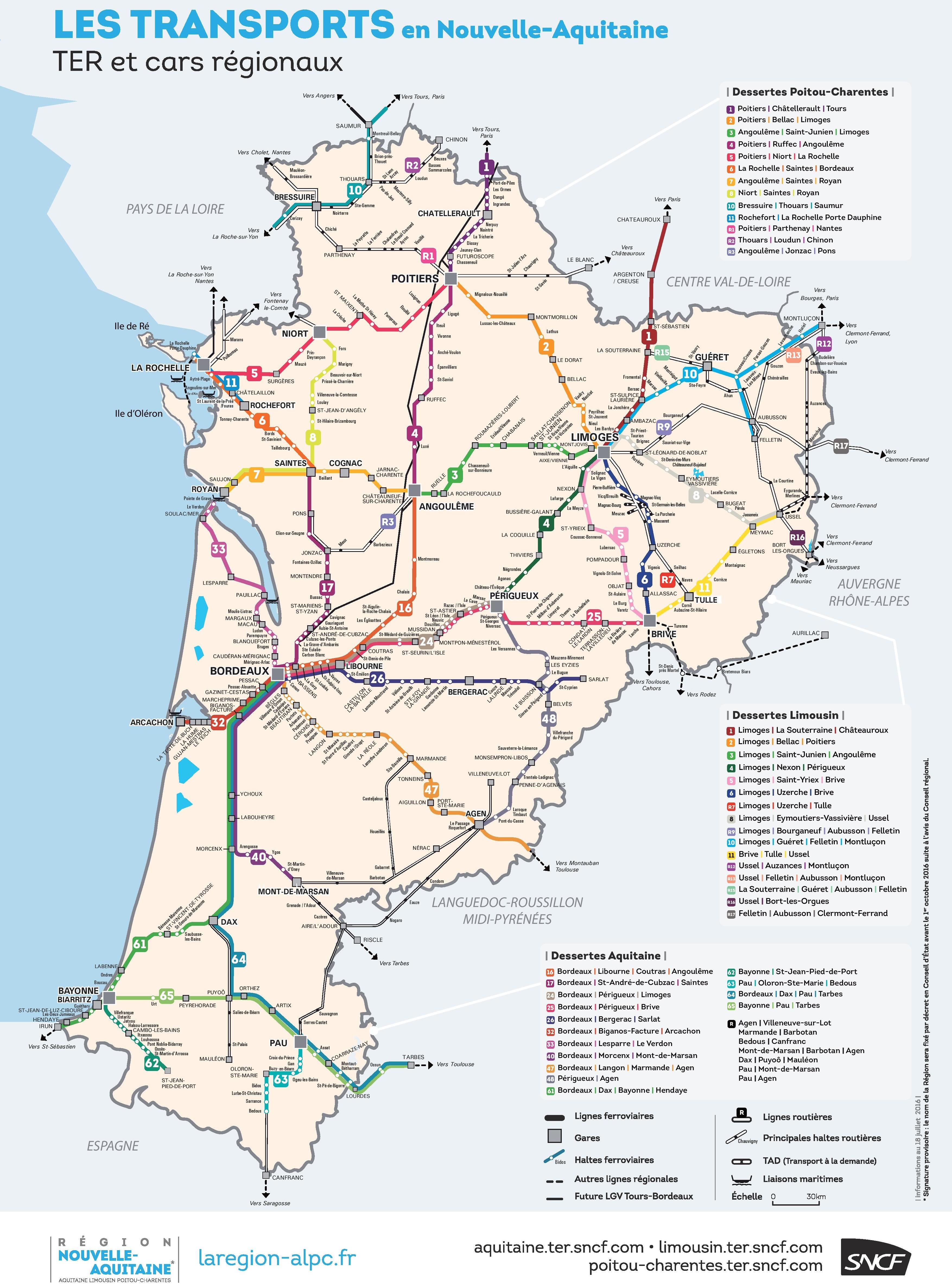 NouvelleAquitaine Maps France Maps of NouvelleAquitaine
