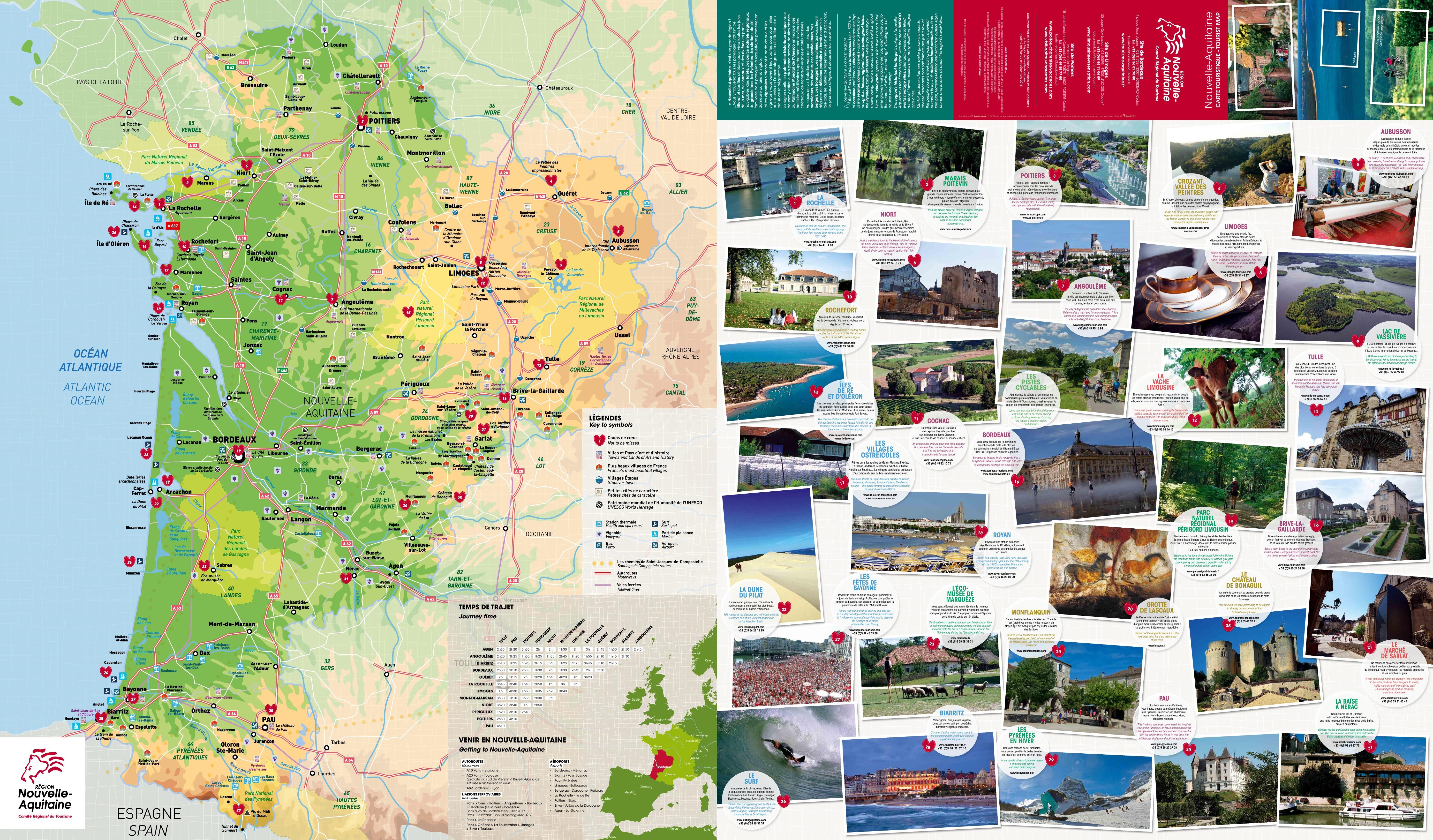 NouvelleAquitaine tourist map