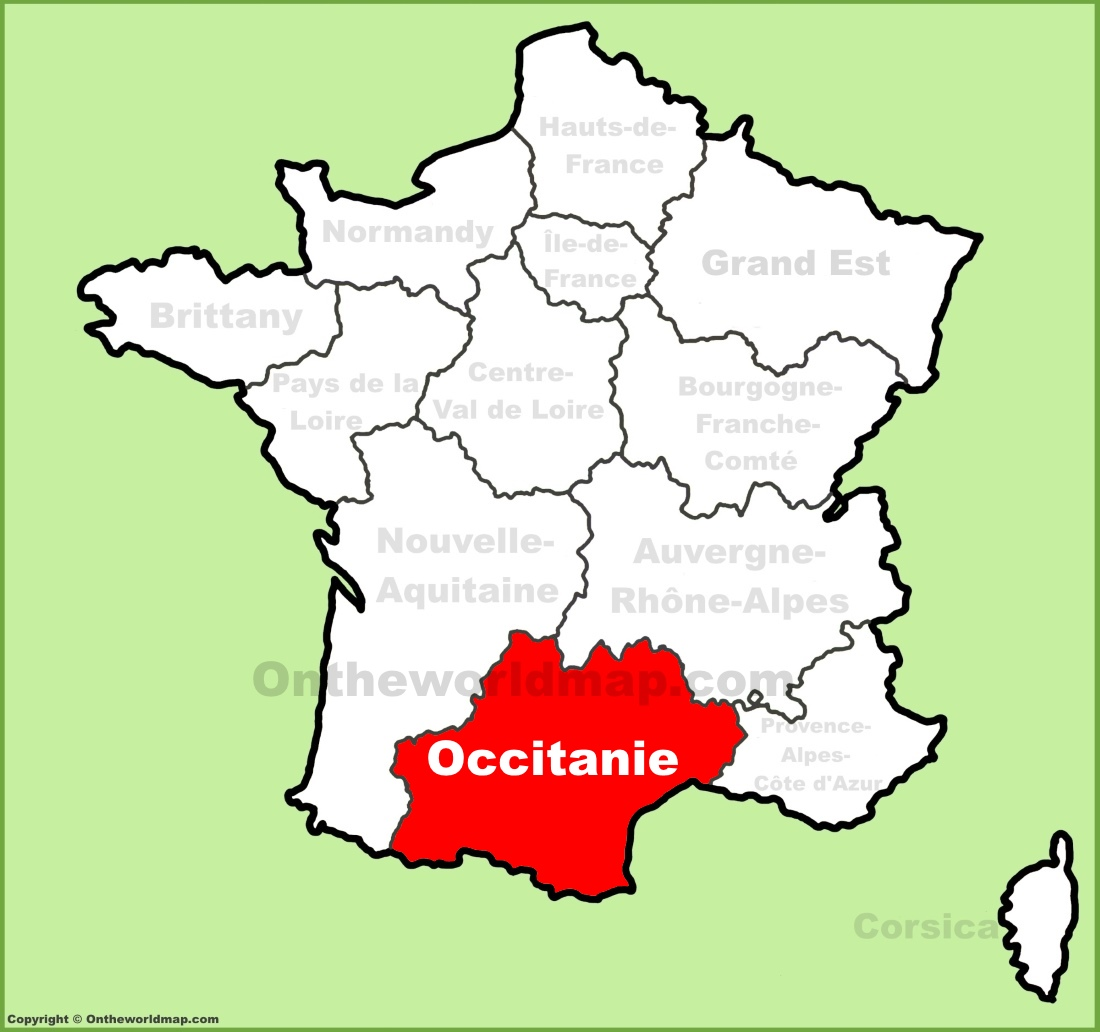 Occitanie location on the France map