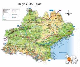 Occitanie tourist map
