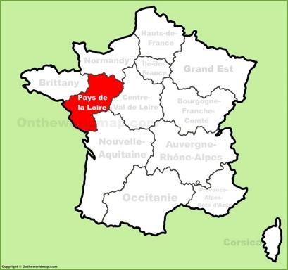 Pays de la Loire Location Map