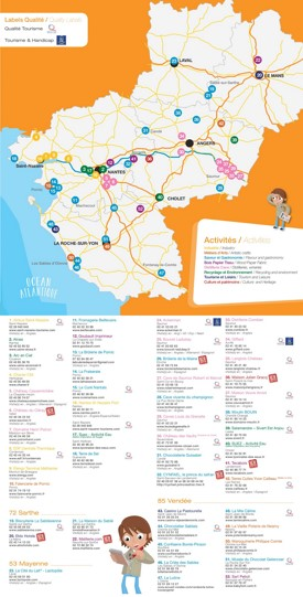 Pays de la Loire sightseeing map