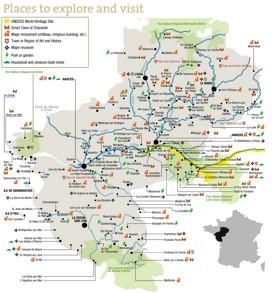 Pays de la Loire tourist map