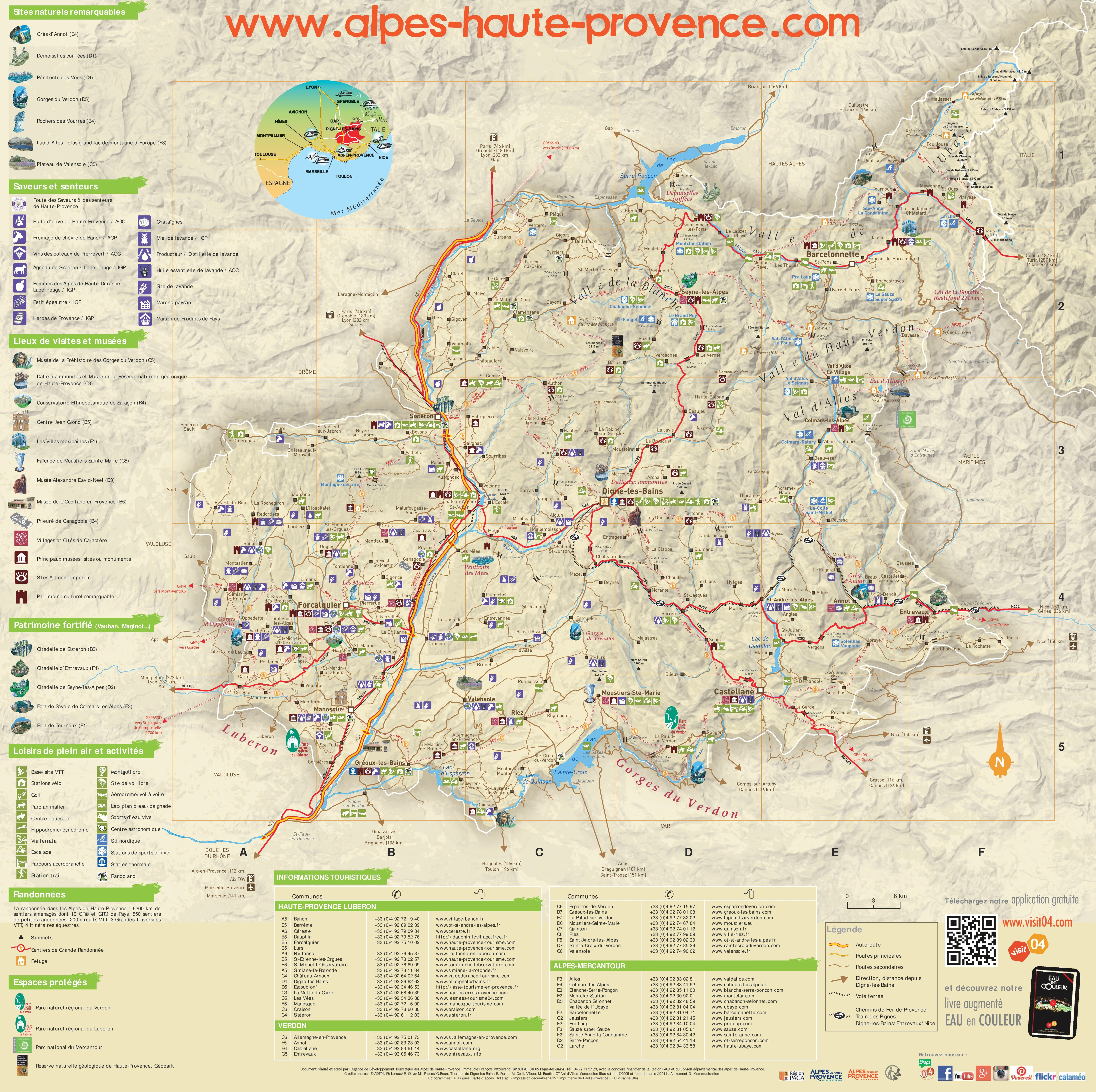 AlpesdeHauteProvence tourist map