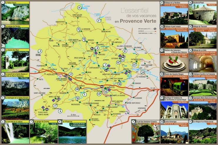 Provence Verte tourist map