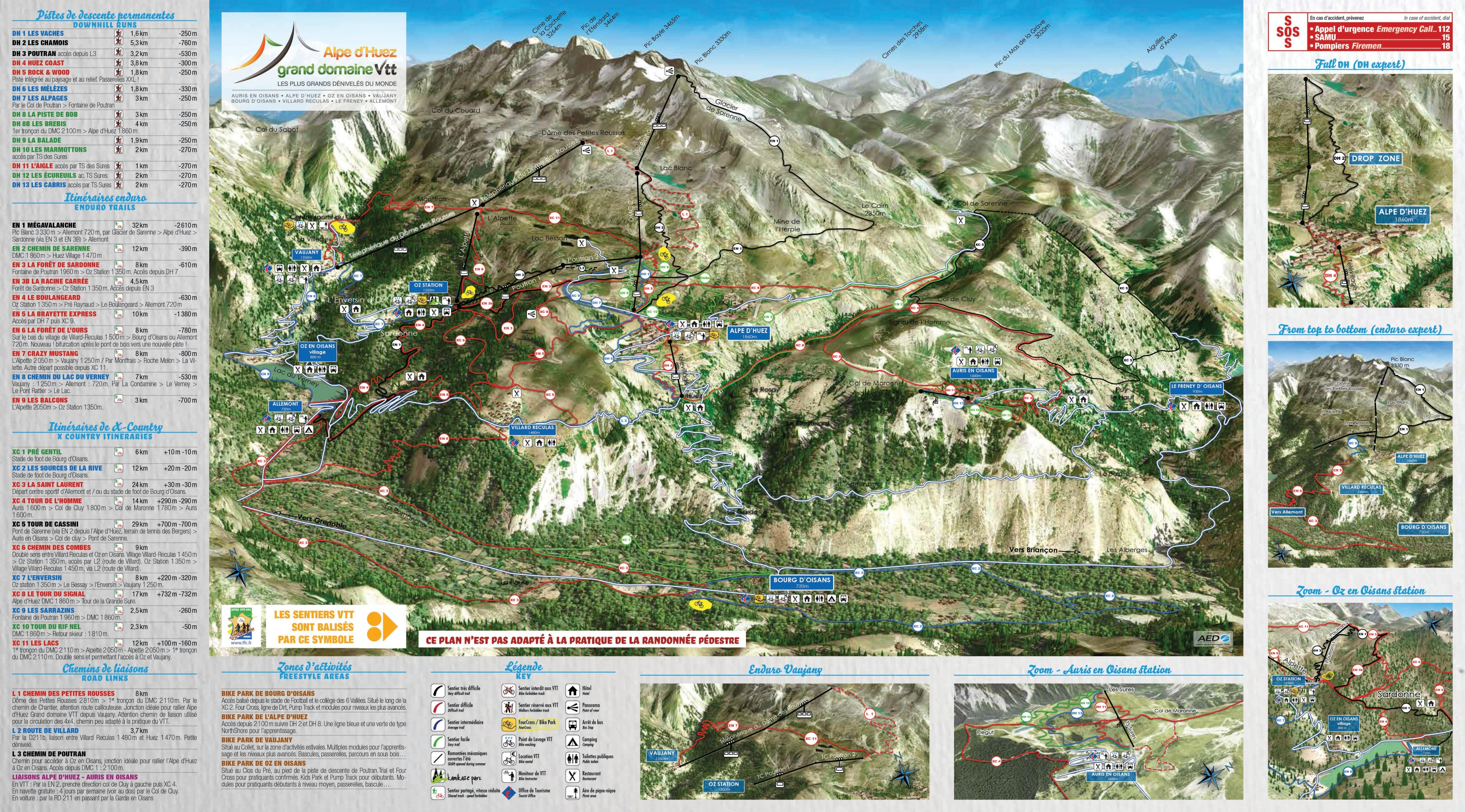 Alpe dHuez Maps France Maps of Alpe dHuez