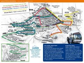 Alpe d'Huez bus map