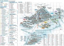 Alpe d'Huez hotel map