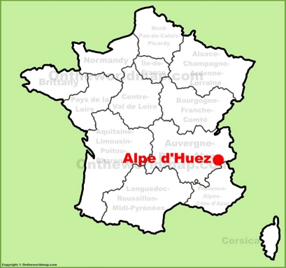 Alpe d'Huez Location Map