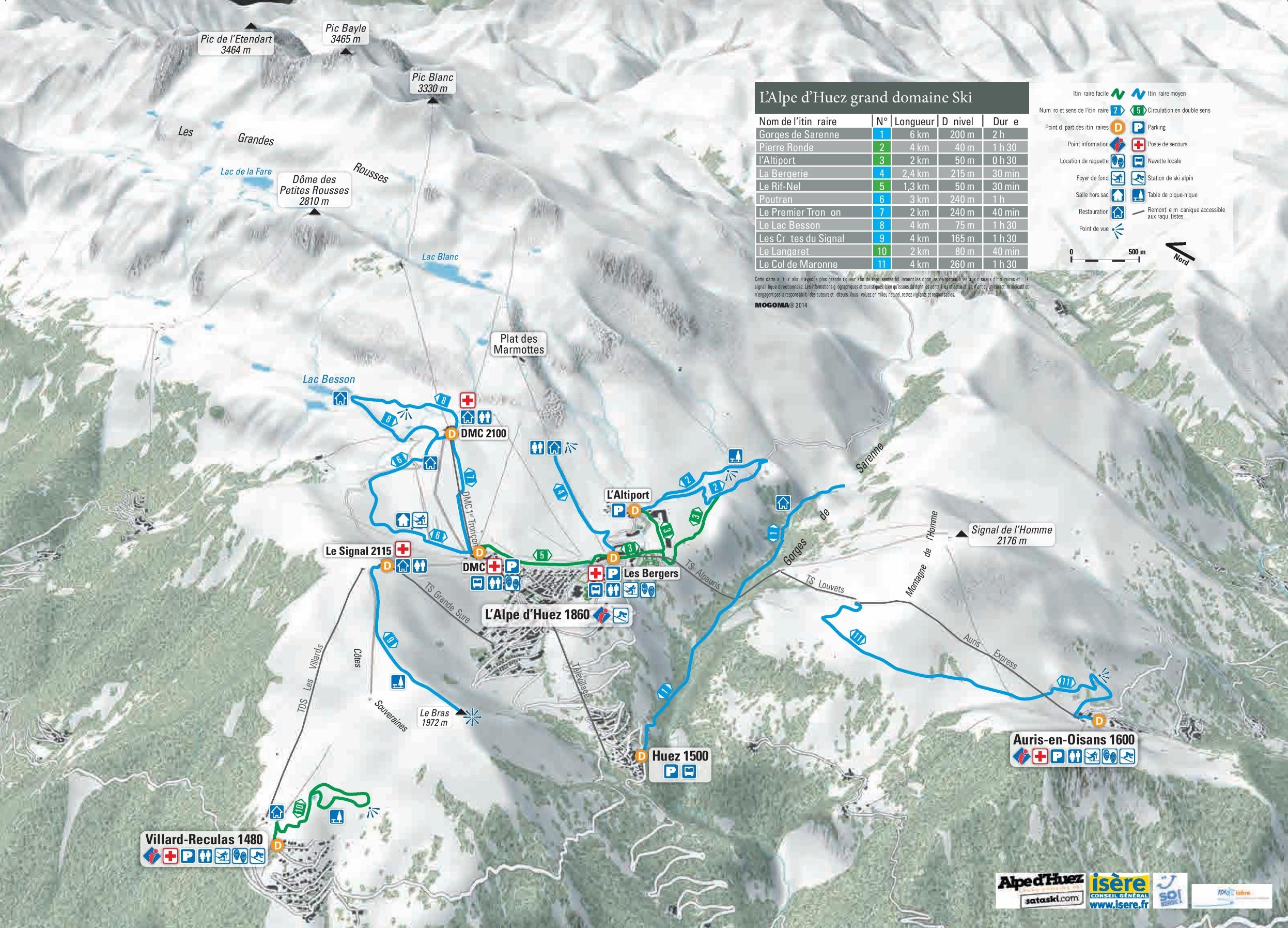 Alpe d\'Huez piste map