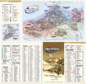Alpe d'Huez resort map
