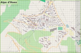 Large detailed map of Alpe d'Huez
