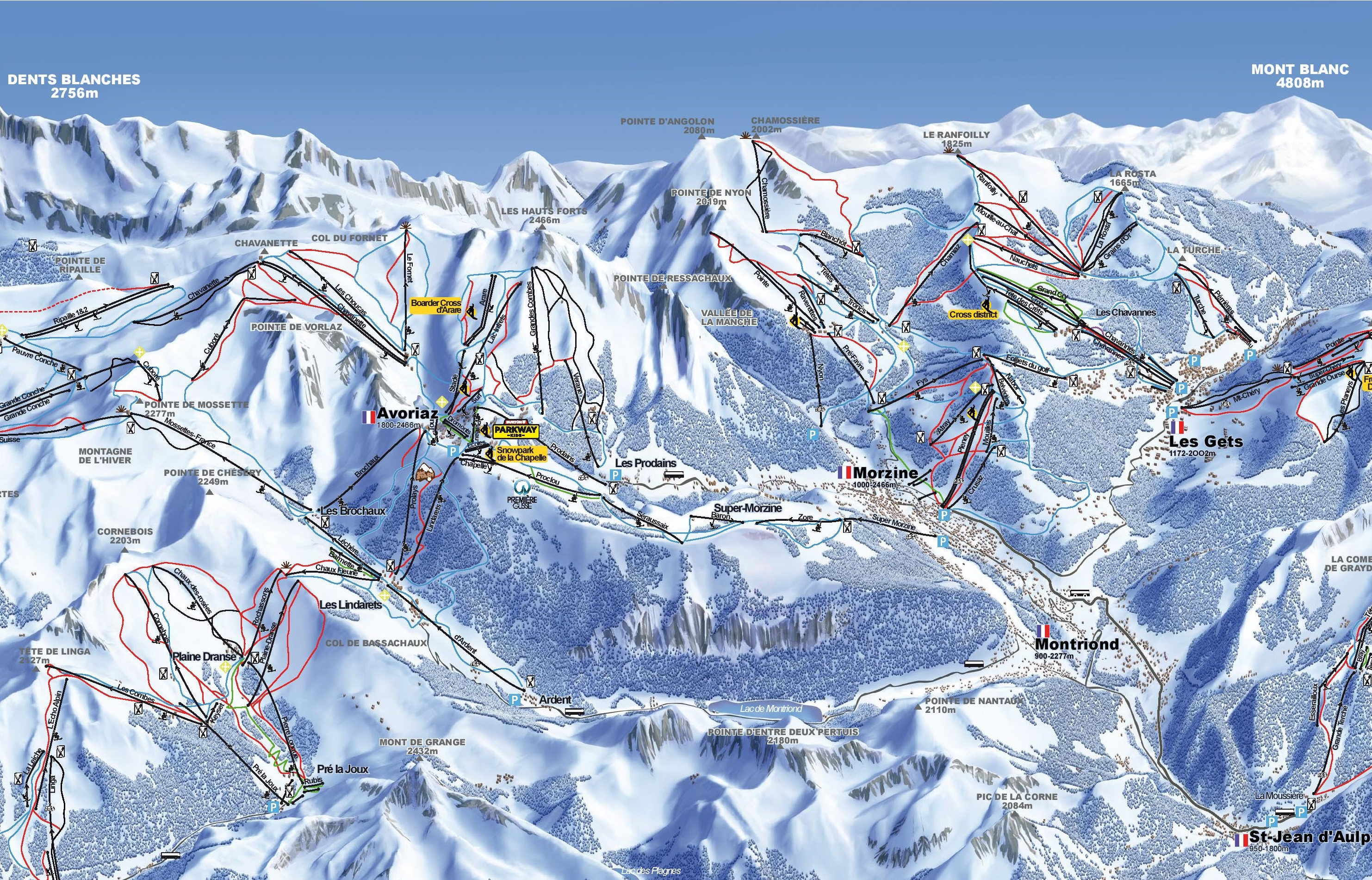 Avoriaz Ski Map Avoriaz and Morzine ski map
