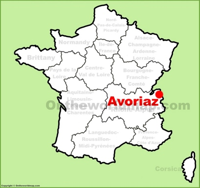 Avoriaz Location Map