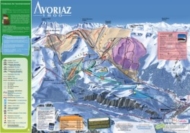 Avoriaz ski map
