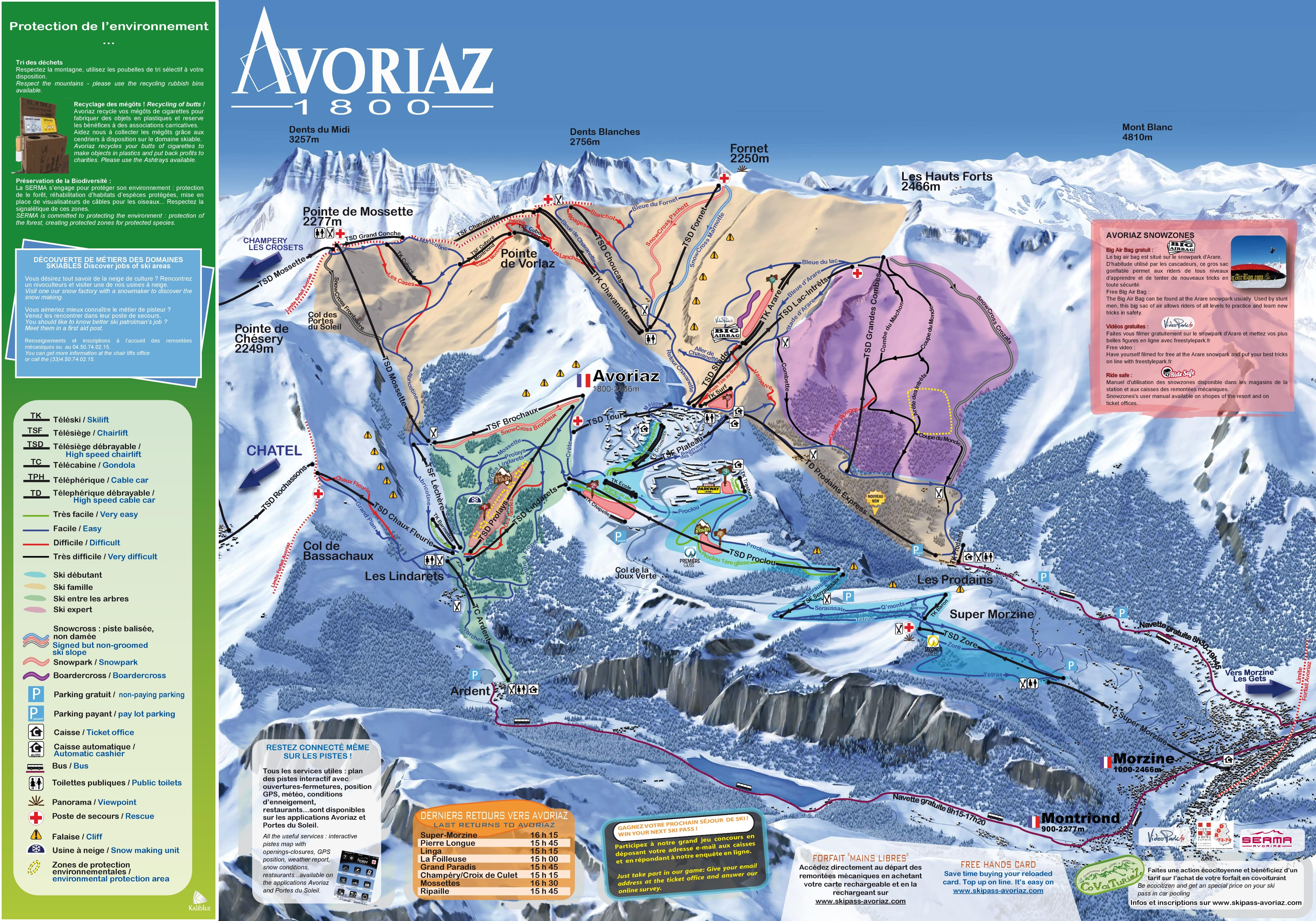 Avoriaz Ski Map Avoriaz ski map