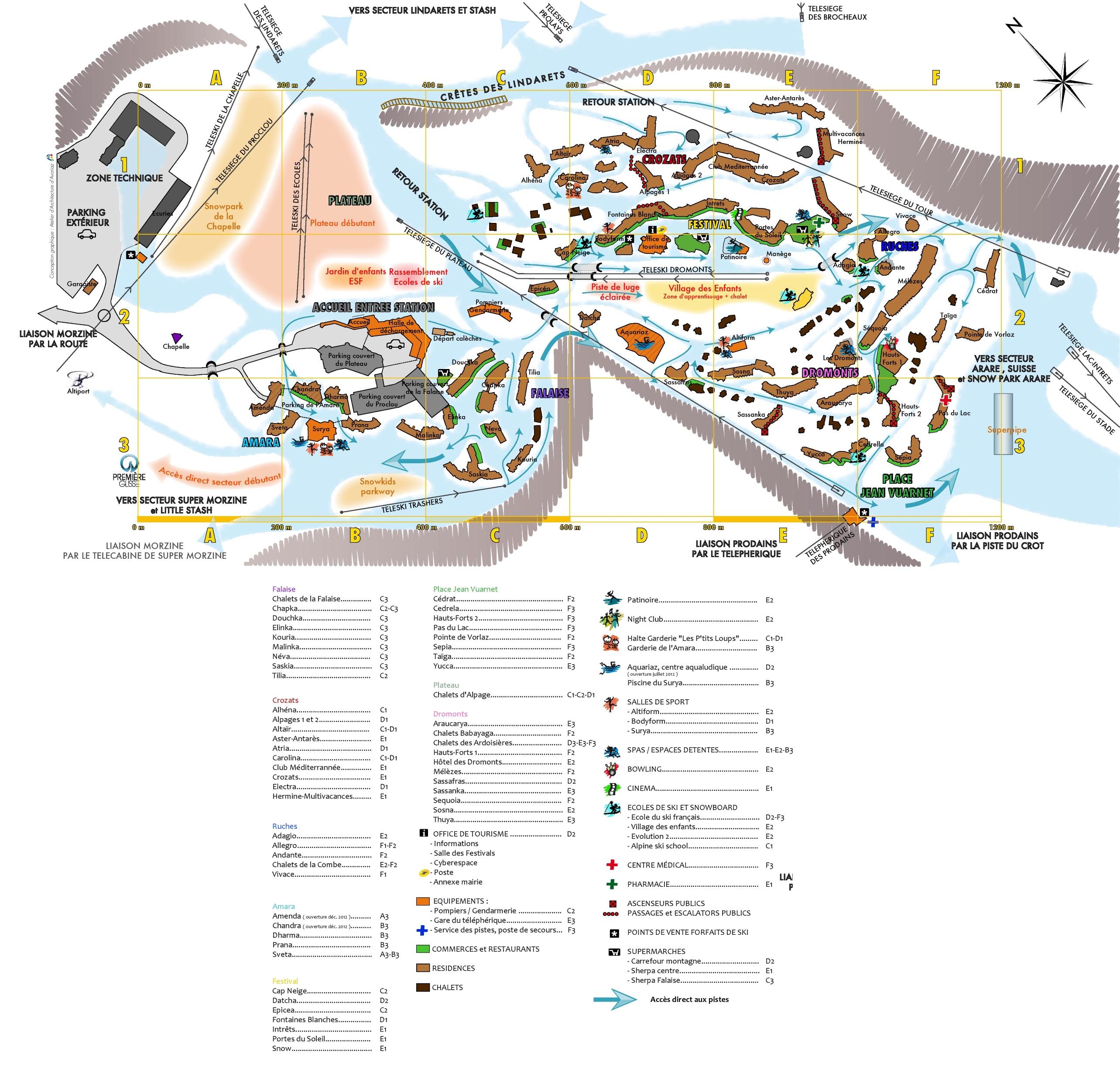 Avoriaz tourist map