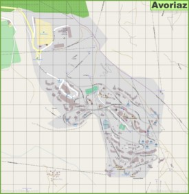 Large detailed map of Avoriaz