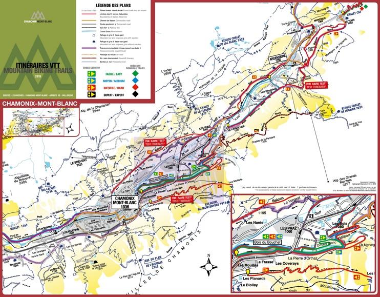 Chamonix bike map