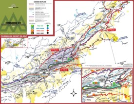 Chamonix bike map