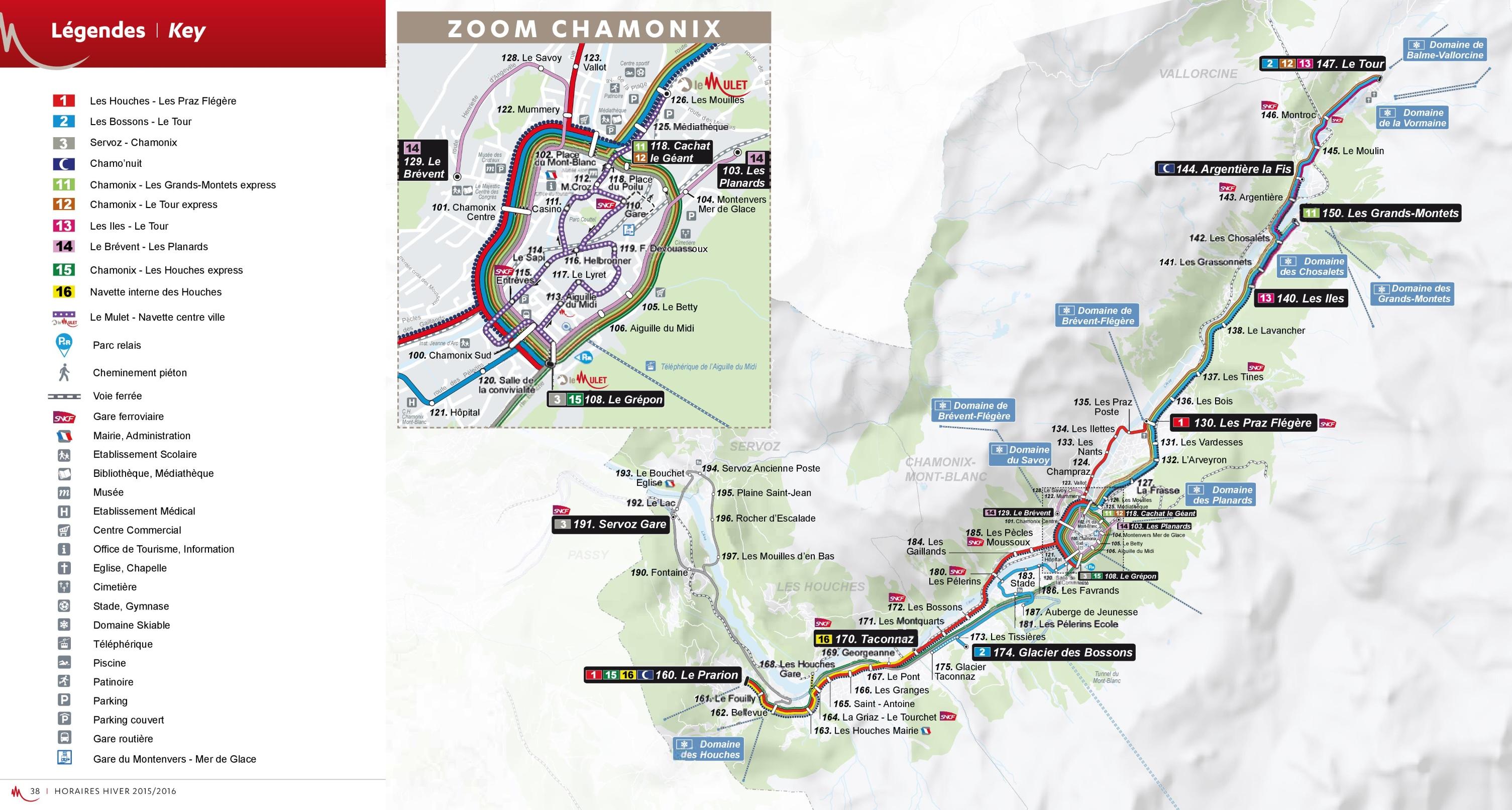 Chamonix Bus Map Ef Bb Bf