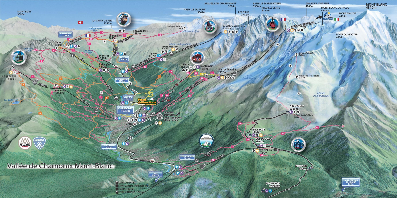 Chamonix Maps France Maps of ChamonixMontBlanc